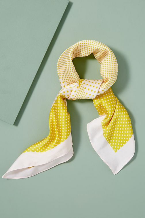 Anthropologie Polka-Dot Neck Scarf