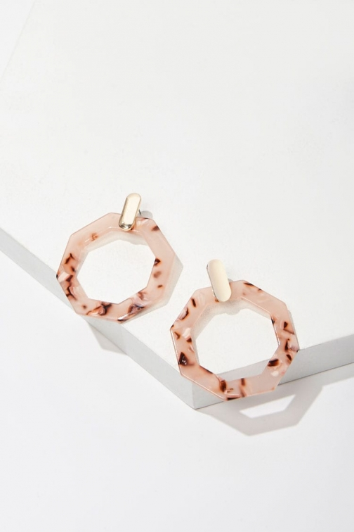 Forever21 Forever 21 Marble Drop , Gold/peach Earring