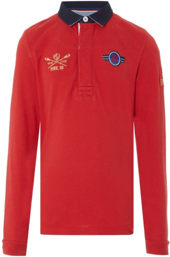 House Of Fraser Howick Junior Boys Quilted Pique Polo