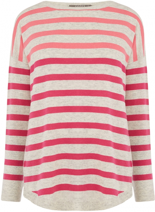 Oasis DELTA STRIPE KNIT Jumper