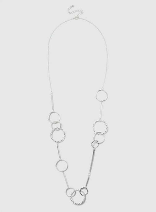 Dorothy Perkins Silver Long Link Necklace