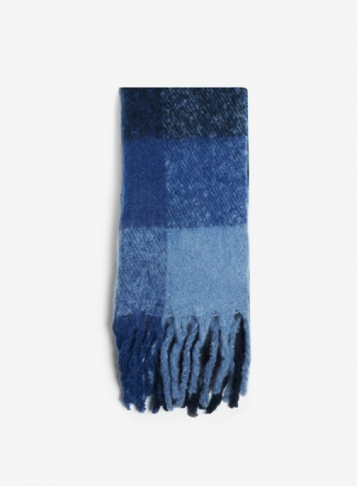 Dorothy Perkins Womens Navy Heavy Brushed - Blue, Blue Scarf