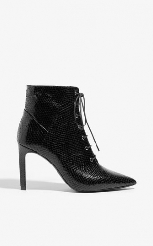 Karen Millen Lace Up Ankle Boot