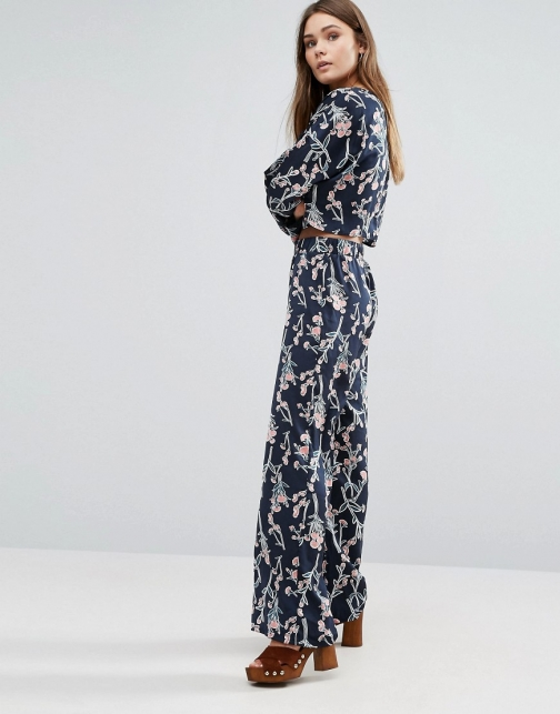 Asos First & I Printed Flared Trouser