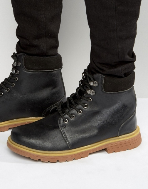 Bellfield Heritage Black Leather Boot
