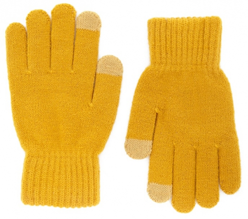 Forever21 Forever 21 Ribbed Trim Knit , Mustard Glove
