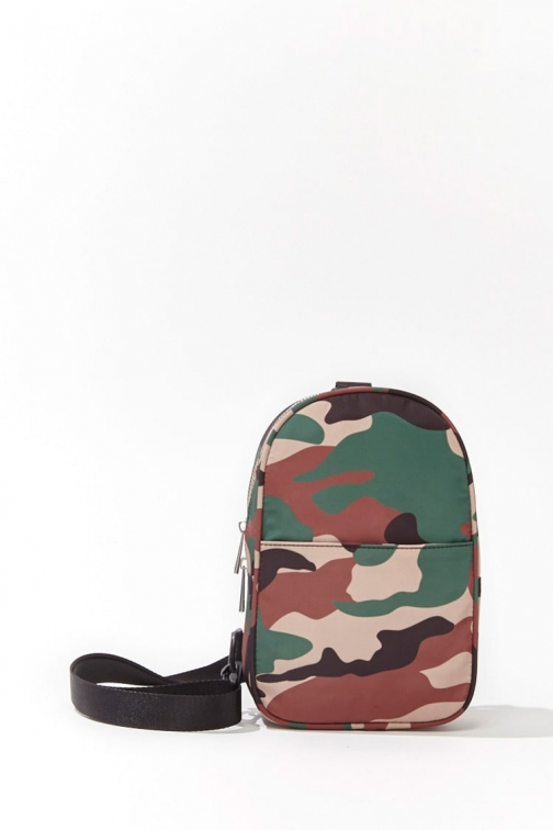 Forever21 Forever 21 Camo Single-Strap , Green/multi Backpack