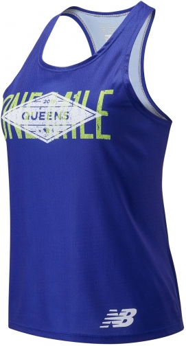 New Balance 90393 Women's New Balance 5th Avenue Mile Queens Singlet - Navy (WT90393HPGM) Tank Top
