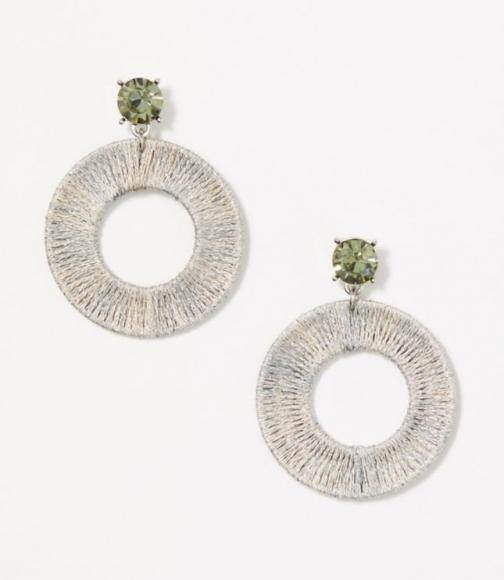 Loft Sparkle Wrapped Statement Earring