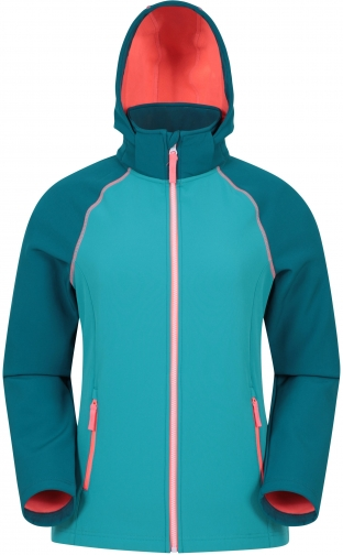 Mountain Warehouse Oslo Womens Softshell - Teal Jacket