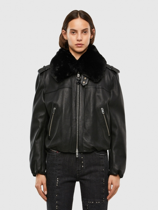 Diesel 0BAZF - Black - XXS Leather Jacket