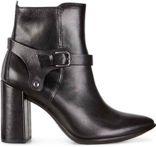 Ecco Shape 75 Block Size 5-5.5 Black Boot