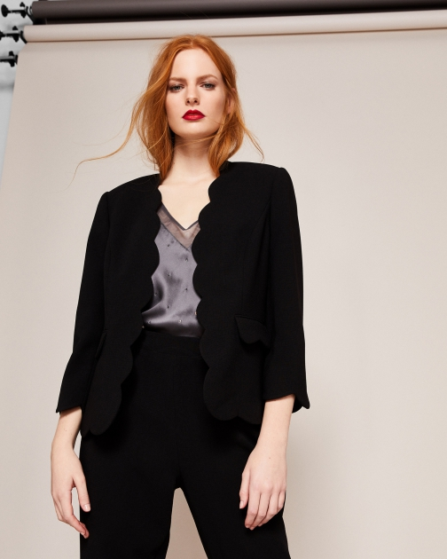 Ted Baker Scallop Edge Cropped Blazer