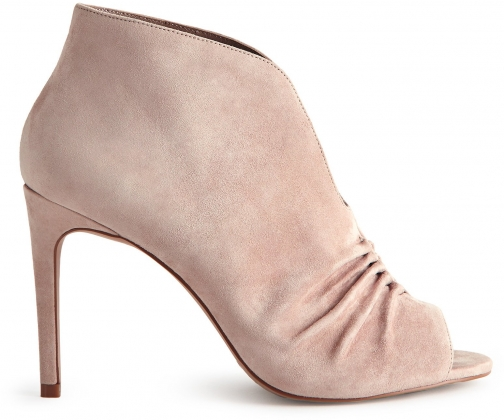 Reiss Elizabetha - Open-toe Ruched Blush, Womens, Size 5 Ankle Boot