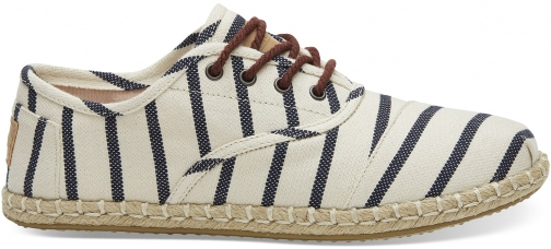 Toms TOMS Stripe Cordones Women's Espadrilles Shoes - Size UK4 / US6 Espadrille