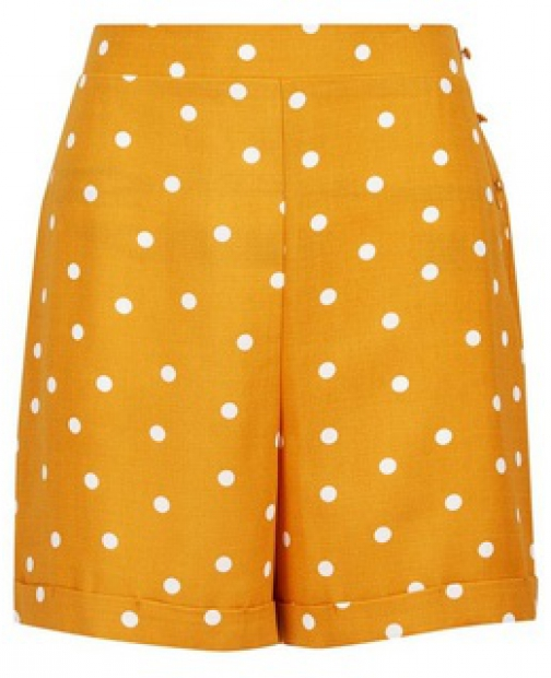 Dorothy Perkins Yellow Spot Print Short