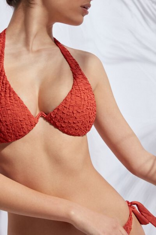 Calzedonia Padded Push-up Top Marrakech Woman Red Size 4 Swimsuit