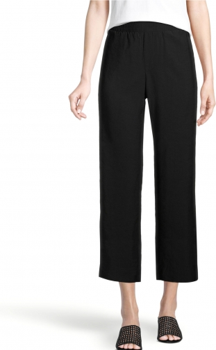 Ann Taylor Factory Petite Pull On Wide Leg Crop Pants Trouser