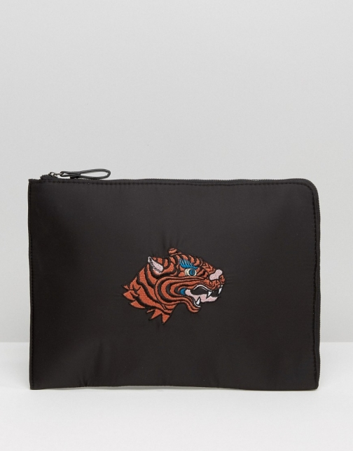 Asos Souvenir Ipad With Tiger Embroidery Case