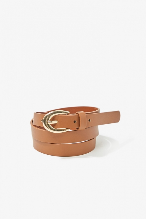 Forever21 Forever 21 Skinny Faux Leather , Brown Belt
