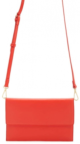 Forever21 Forever 21 Faux Leather Crossbody , Red Crossbody Bag