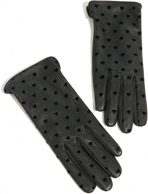 Oasis LEATHER HEART FLOCKED Glove