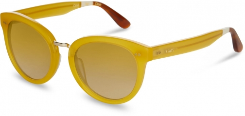 Toms Yvette Milky Pineapple With Yellow Brown Gradient Lens Sunglasses