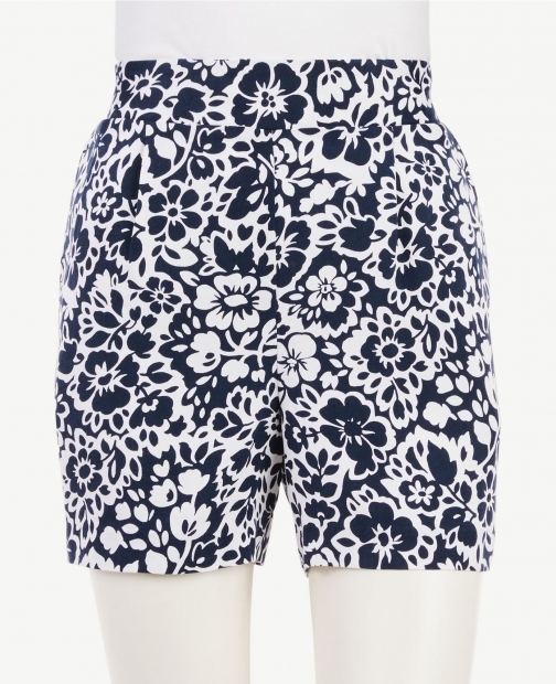 Ann Taylor Floral Pull On Short