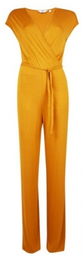 Dorothy Perkins Tall Yellow Wrap Jumpsuit