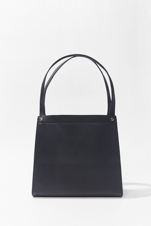 Forever21 Forever 21 Pebbled Faux Leather Bag , Black Tote