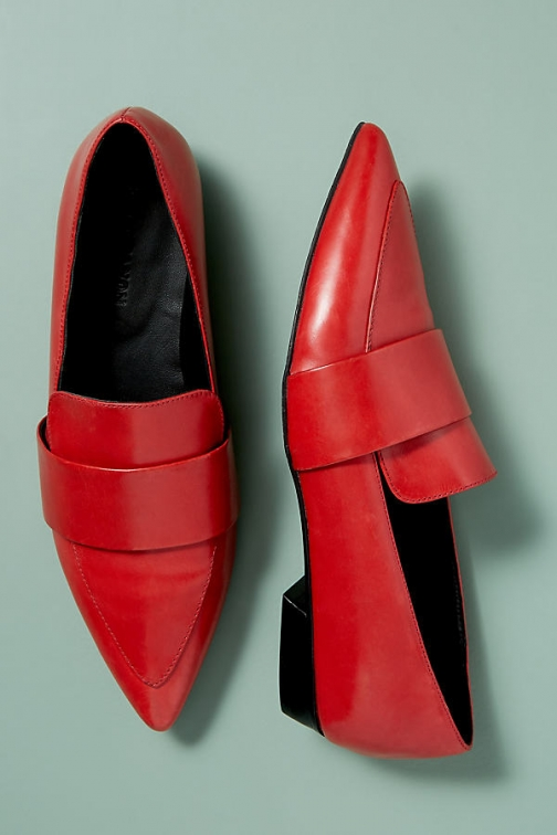 Anthropologie Kerrie Patent-Leather Loafers Shoes