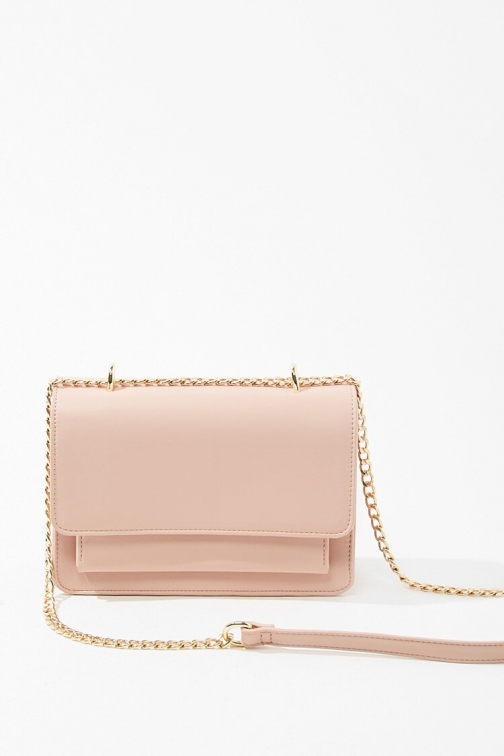 Forever21 Forever 21 Curb Chain , Pink Crossbody Bag