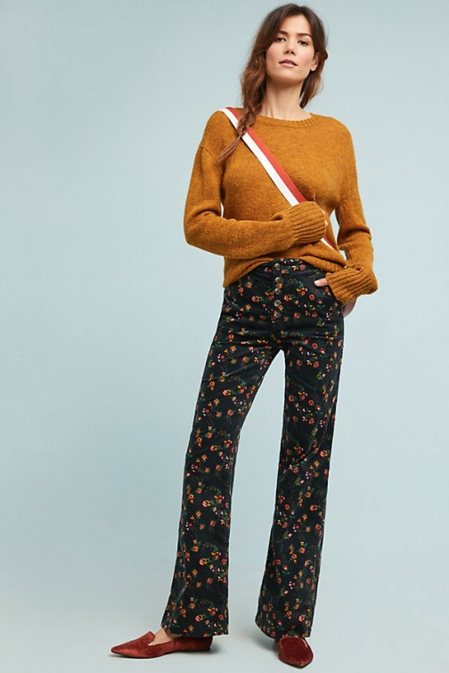 Anthropologie Pilcro Corduroy High-Rise Wide-Leg Jeans - Assorted, Size Wide Leg Jeans
