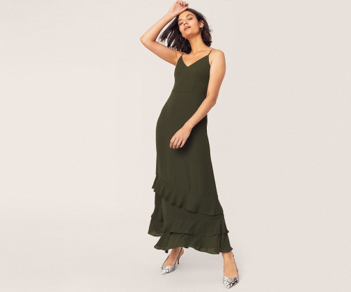 Oasis Long Tiered Cami Dress