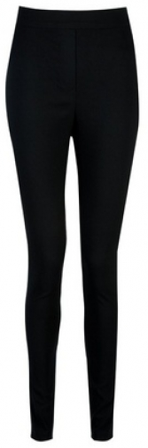 Dorothy Perkins Tall Black Mock Fly Bengaline Trousers Trouser