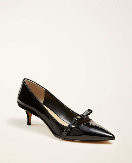Ann Taylor Reese Patent Leather Bow Pumps