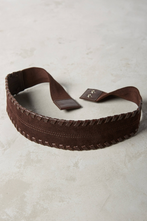 Anthropologie Harper Stitched Snap Belt
