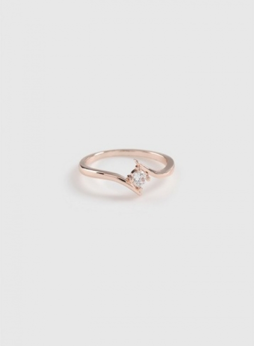 Dorothy Perkins Rose Gold Cubic Zirconia Split Ring