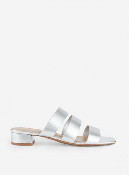 Dorothy Perkins Silver 'Stormy' Multi Strap Mules