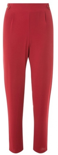 Dorothy Perkins Womens Red Tortoiseshell Button Joggers- Red, Red Athletic Pant