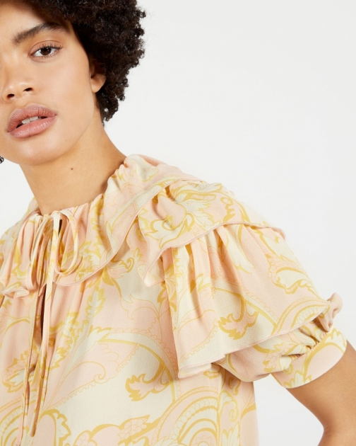 Ted Baker Frill Printed Top