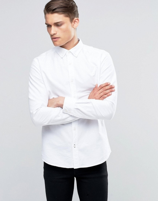 Esprit Button Down Slim Fit Oxford Shirt
