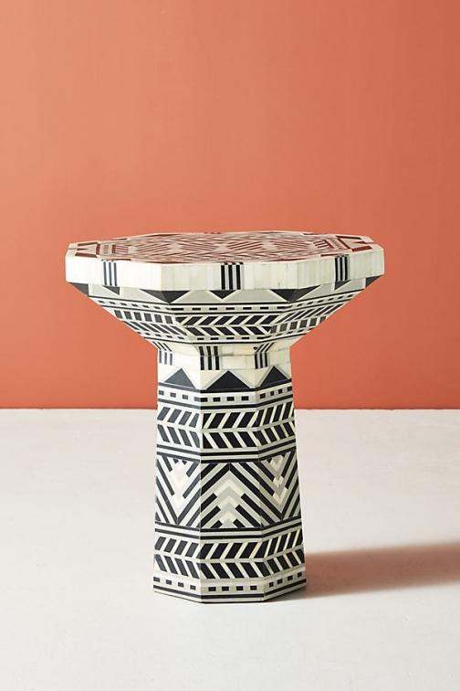 Anthropologie Flagstaff Side Table - Black Accessorie