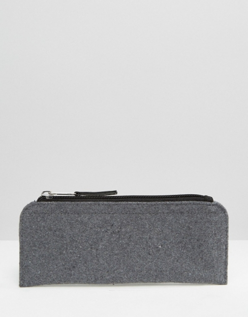 Asos Melton Wool Pencil Grey Case