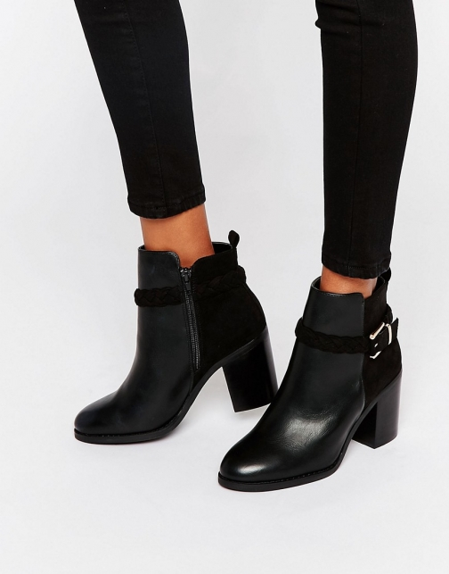 Miss Kg Swift Buckle Strap Heeled Ankle Boot