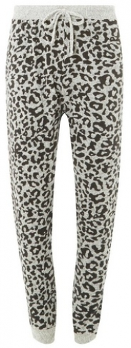 Dorothy Perkins Womens Grey Leopard Joggers- Grey, Grey Athletic Pant