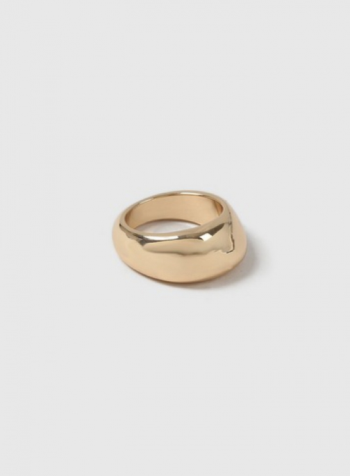 Dorothy Perkins Gold Look Organic Thick Band Ring