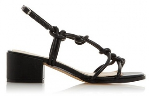 Head Over Heels By Dune Black 'Jiji' Mid Heel Sandals