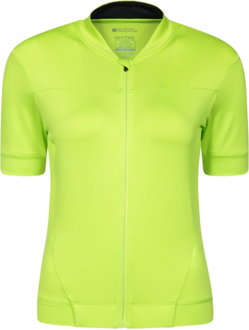 Mountain Warehouse Pro IsoCool Womens Cycling Jersey - Green Top