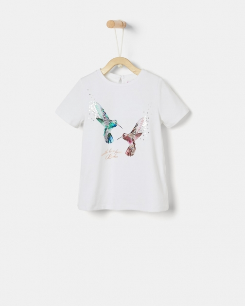 Ted Baker Graphic With Pleated Back T-Shirt